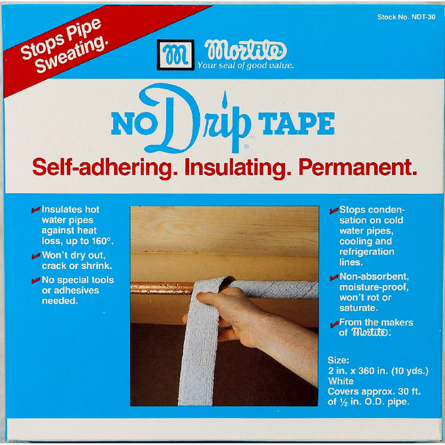 No drip tape Self-adhering. Insulating. Permanent.