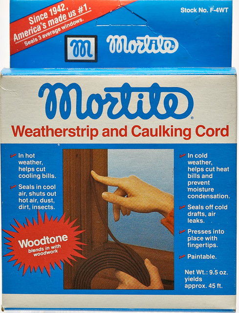 Mortite weatherstrip and caulking Cord Seals 3 average windows