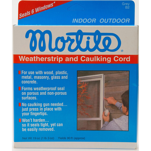 Mortite weatherstrip and caulking Cord Seals 6 windows